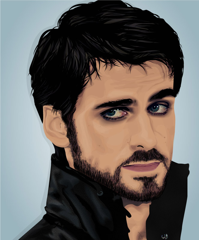 Celebrity Vector - Colin O'Donoghue by EmmaEsme