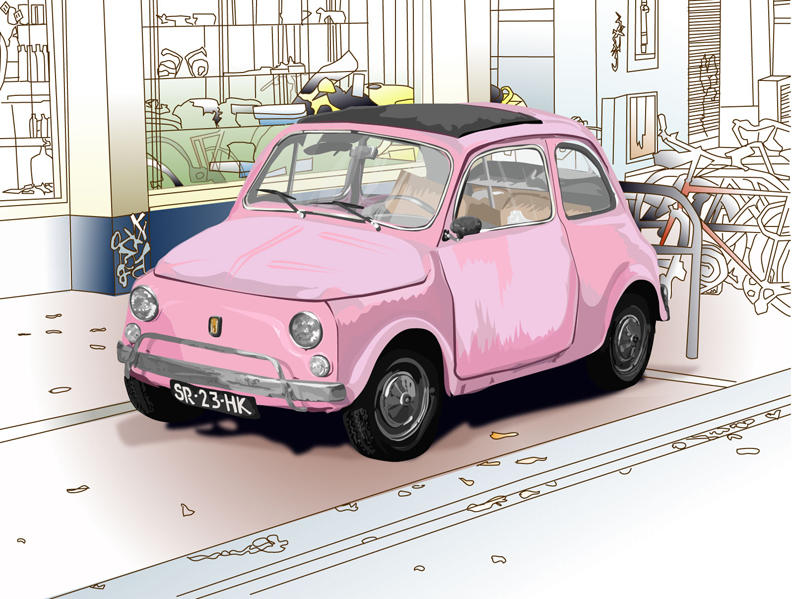 Pink Car by EmmaEsme