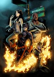 The Defenders - Comic Cover by fajardo10