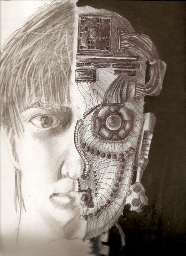 Half robot by Neltzu on DeviantArt