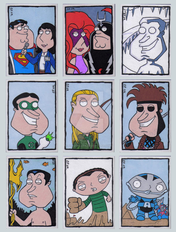 Family Guy Sketch Cards K by ElainePerna