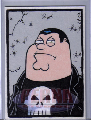 Peter as the Punisher.