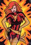 Dark Phoenix Sketch Card