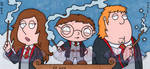 Harry Potter Trio by ElainePerna