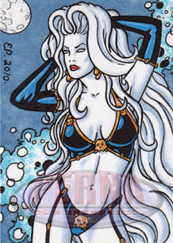 Lady Death Sketch Card 2