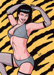Bettie Page Base Card Art Set 2 by ElainePerna