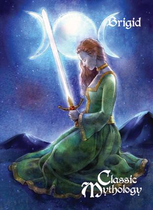 Classic Mythology Base Card Art - Brigid by ElainePerna