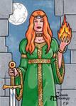 Brigid Sketch Card - Classic Mythology