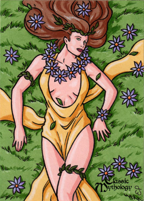 Gaia Sketch Card - Classic Mythology