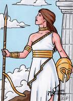 Athena Sketch Card - Classic Mythology by ElainePerna