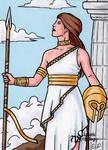 Athena Sketch Card - Classic Mythology