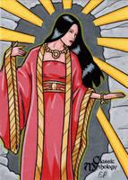 Amaterasu Sketch Card - Classic Mythology by ElainePerna