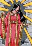 Amaterasu Sketch Card - Classic Mythology by ElainePerna