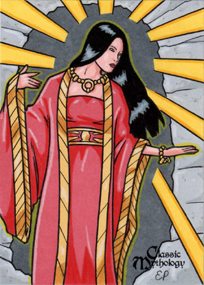 Ameterasu Sketch Card - Classic Mythology