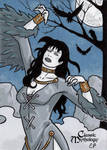 The Morrigan Sketch Card - Classic Mythology