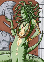 Medusa Sketch Card - Classic Mythology by ElainePerna