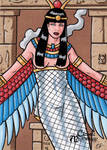 Isis Sketch Card - Classic Mythology