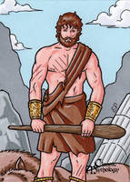 Heracles Sketch Card - Classic Mythology by ElainePerna