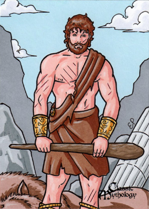Heracles Sketch Card - Classic Mythology