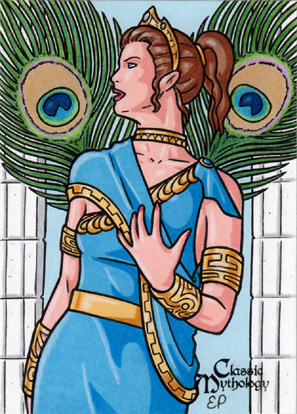 Hera Sketch Card - Classic Mythology