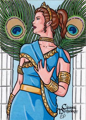 Hera Sketch Card - Classic Mythology