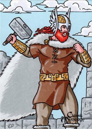 Thor Sketch Card - Classic Mythology