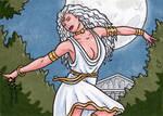 Selene Sketch Card - Classic Mythology