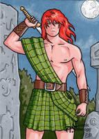 Nuada Sketch Card - Classic Mythology by ElainePerna