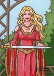 Lady Sif Sketch Card - Classic Mythology