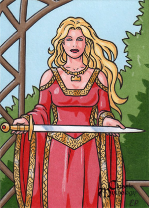 Lady Sif Sketch Card - Classic Mythology