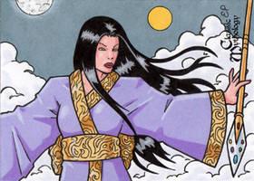 Izanami Sketch Card - Classic Mythology by ElainePerna