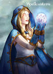 Spellcasters Base Card Art - White Magic by ElainePerna
