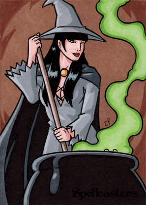Spellcasters Sketch Card 7