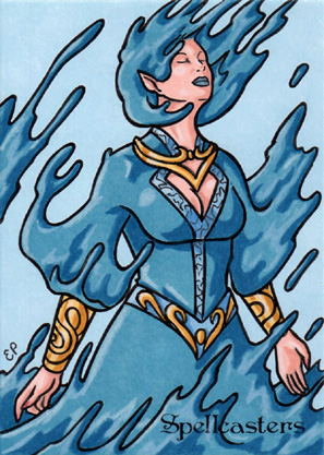 Spellcasters Sketch Card 17