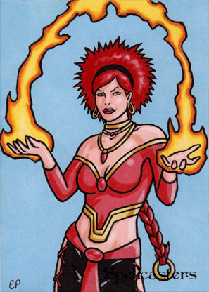 Spellcasters Sketch Card 18