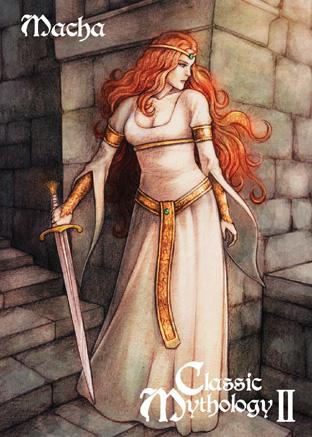 Classic Mythology II Base Card Art - Macha by ElainePerna