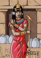 Serket Sketch Card - Classic Mythology II by ElainePerna