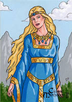 Freyja Sketch Card - Classic Mythology II by ElainePerna