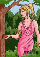 Persephone Sketch Card - Classic Mythology II by ElainePerna