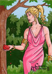 Persephone Sketch Card - Classic Mythology II by ElainePerna