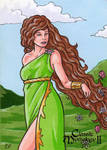 Gaia Sketch Card - Classic Mythology II