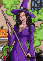 Hallowe'en Sketch Card 4 by ElainePerna