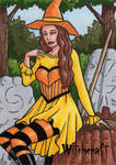 Witch Sketch Card 1 - Hallowe'en: Witchcraft by ElainePerna