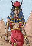 Hathor - Classic Mythology III by ElainePerna