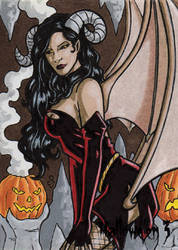 Hallowe'en 3 - Sketch Card 2 by ElainePerna