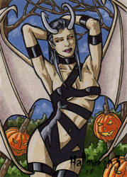 Hallowe'en 3 - Sketch Card 4 by ElainePerna
