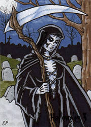 Hallowe'en 3 - Sketch Card 8 by ElainePerna