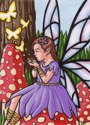 Among the Toadstools Sketch Card by ElainePerna