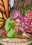 Among the Toadstools Sketch Card 2 by ElainePerna