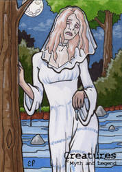 La Llorona - Sketch Card by ElainePerna